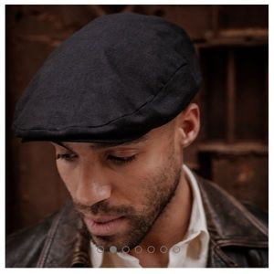 Stetson Newsboy Cap Hat • Gray Wool Blend• Medium